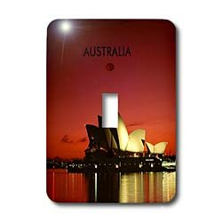 (3dRose LLC lsp_60672_1 Night Time Picture of Sydney Opera House Australia Single Toggle Switch)