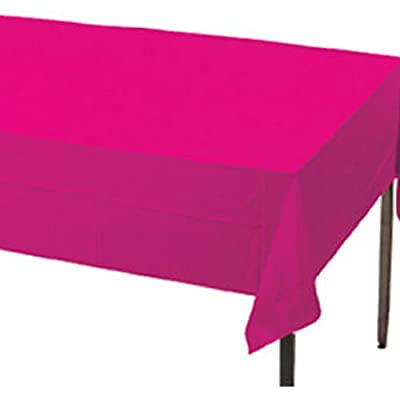 "Creative Converting Plastic Banquet Table Cover, Hot Magenta, 54"" x 108"" from Creative Converting"
