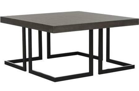 Amazon.com: Cofee - Mesas de mesa para salón, madera gris ...