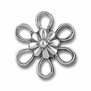 - Beading Station 30-Piece Flower Connector Links, 12mm, Tibetan Silver