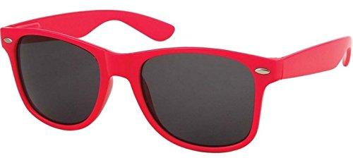 Sunglasses Classic 80's Vintage Style Design (Pink)
