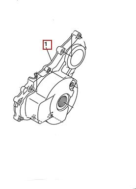 Left Side Crankcase - YAMAHA OEM LEFT CRANKCASE COVER 08-11 WR250X 08-16 WR250R 3D7-15411-00-00