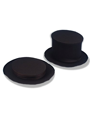 Collapsible Top Black Hat Adult (Forum Novelties Magician's Collapsible Black Top Hat, Black, X-Large)