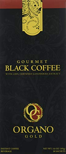 2 Box Organo Gold Gourmet Black Coffee, Organic 100% Certified, 105g - 30 bags (3.5g) (Cheapest Way To Fill A Bean Bag)