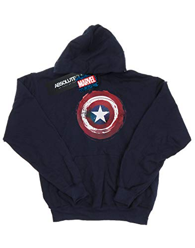 Captain Marvel Marino Mujer Shield Splatter America Azul Capucha p75rw7