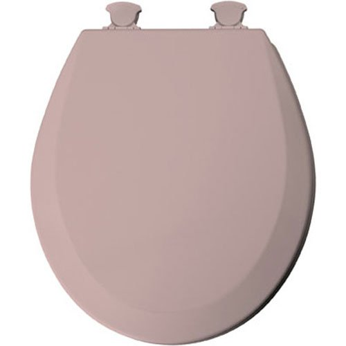 (Mayfair 46EC 023 Molded Wood Toilet Seat with Lift-Off Hinges, Round, Pink)