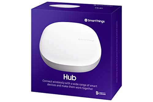 Samsung SmartThings Hub 3rd Generation [GP-U999SJVLGDA] Smart Home Automation Hub Home Monitoring Smart Devices - Alexa Google Home Compatible - Zigbee, Z-Wave, Cloud to Cloud Protocols - White