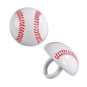 [Baseball Cupcake Rings (24-Pack)] (Cupcake Rings Birthday Cake)