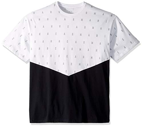A|X Armani Exchange Men's Short Sleeve All Over Graphic Print T-Shirt, White/Navy, XL ()