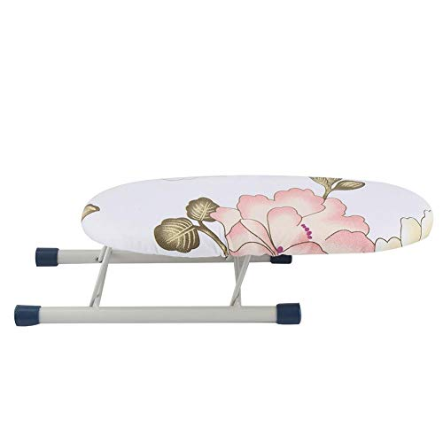 Garosa Mini Tabletop Ironing Board with Folding Legs Cotton Cover for Sleeve Home Travel Cuffs Collars Handling Table(Peony) ()