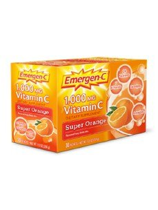 Emergen-C Vitamin C Fizzy Drink Mix, 1000 mg, Super Orange, 0.3 Ounce Packets 30 packets. (Emergen Vitamin C C)