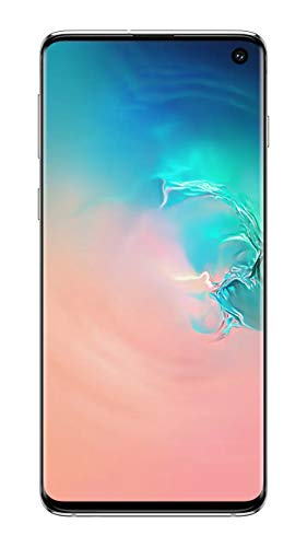 "Samsung Galaxy S10 128GB+8GB RAM SM-G973F/DS Dual Sim 6.1"" LTE Factory Unlocked Smartphone (International Model No Warranty) (Prism White)"