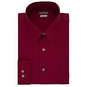 Van Heusen Men's Dress Shirt Regular Fit Poplin Solid 23