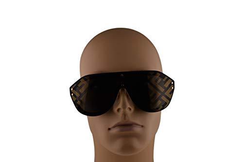 ca4bb0dcbb Fendi FFM0039 G S Sunglasses Black Gold w Gold Lens 99mm 2M27Y FF ...