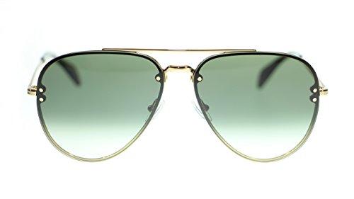 - Celine Unisex Sunglasses Cl41392 J5G/XM Gold/Green Degrade Aviator 58mm