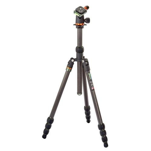 3 Legged Thing Punks Anarchy Billy Black Carbon Fiber 4-Section Travel Tripod with AirHed Neo Ballhead, 65