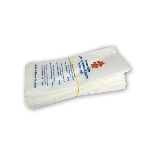Contenedores de papel politenato para ba/ños Unidades 100/Sobres para compresas higi/énicas femeninas Bolsas higi/énicas.