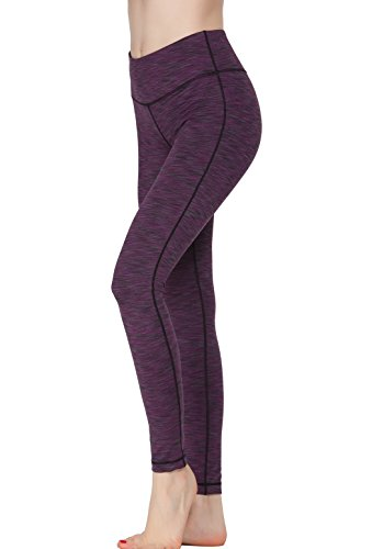 Women Power Flex Yoga Pants Workout Running Leggings - All Colors Purple L