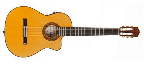 Cordoba 55FCE Acoustic-Electric Thinbody Flamenco Guitar (Honey Amber) ()