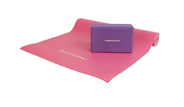 Msports Yoga Juego | - Esterilla de Yoga en Color Rosa ...