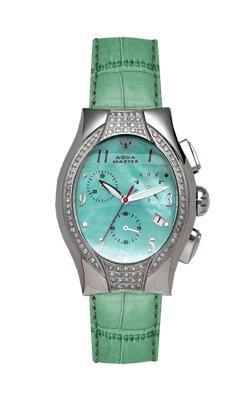 Aqua Master Damen-Armbanduhr oval Stil Diamant - 1 -25 ctw