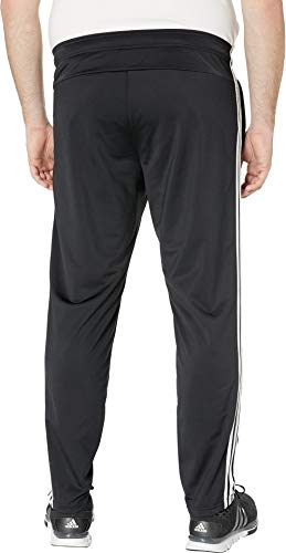 adidas Men's Big & Tall Essentials 3-Stripe Tricot Open Hem Pants Black/White XL 31 Tall by adidas (Image #2)
