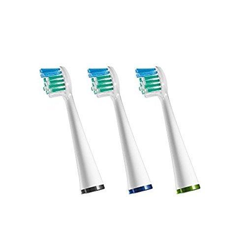 Waterpik Sensonic Toothbrush Compact Brush Head, SRSB-3W, 3