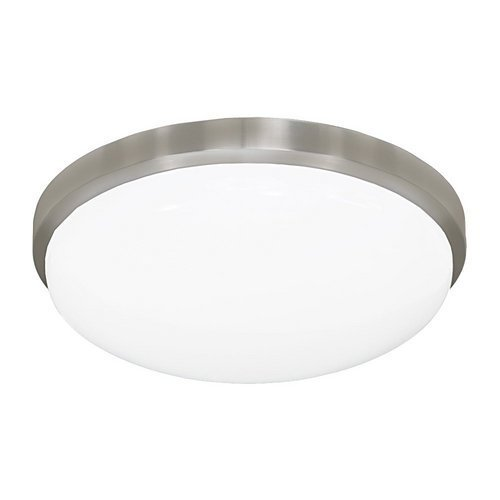 (Jesco Lighting CM402M-40-BN 4000K Round LED Ceiling Fixture/ADA Sconce with Acrylic Shade, Nickel, 13 by Jesco Lighting Group)