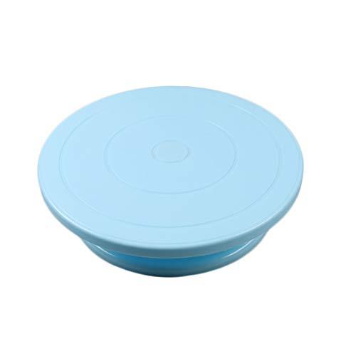 Juner Cake Decorating Turntable Rotating Revolving Icing Kitchen Display Stand 28cm (Blue)