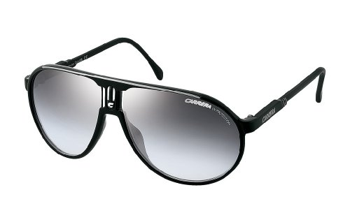 Carrera Mens Shoes - Carrera Champion BSC Black and Silver Champion Aviator Sunglasses Lens Category 2