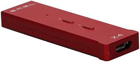 SMSL X4 USB DAC Portable Digital OTC Headphone Amplifier (Red)