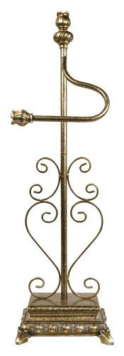 Sterling 97-0002 Metal/Composite Freestanding Toilet Paper Holder, 10-Inch, Antique Brass
