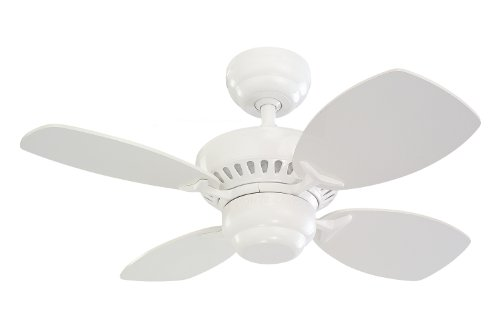 white ceiling fan no light - 7