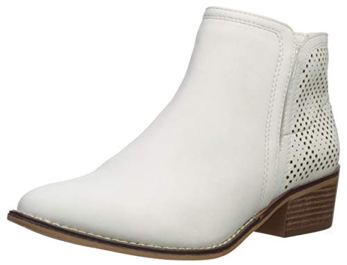 Madden Girl Women's Neville Ankle Boot White Paris 8 M US
