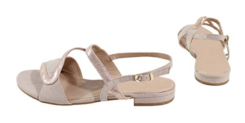 Donna Sandali Gold Rose Shoes By qPx1aw