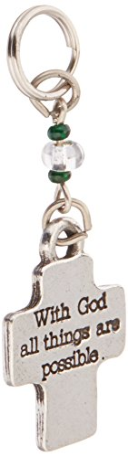 Cathedral Art 2-Inch with God Cross Key Ring Charm (KRC135)