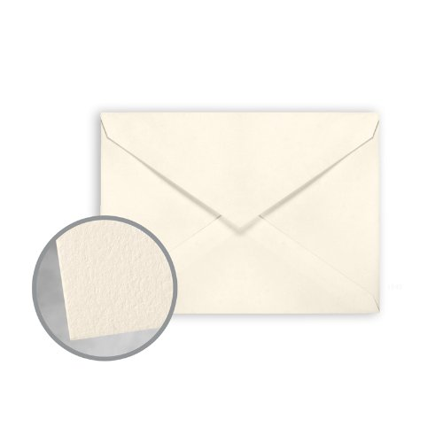 CRANE'S LETTRA Ecru White Envelopes - No. 4 Baronial (3 5/8 x 5 1/8) 32 lb Writing Lettra 100% Cotton 200 per Box by Neenah