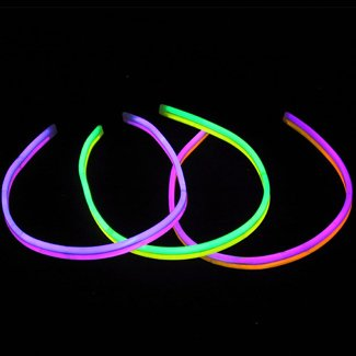 Lumistick 22 Inch TWISTER Glowstick Necklaces | Bendable Glow Stick Jewelry Party Pack | Available Bulk and Neon Color Variety | Kid Safe Light-Up Necklaces | 12 Hour Glow (Dual Color Assortment, 25)