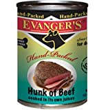 Evanger's Hand-Packed Hunk of Beef Canned Dog Food, My Pet Supplies