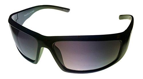 Perry Ellis Sunglasses Mens Black Plastic Wrap, Smoke Gradient Lens PE17 3