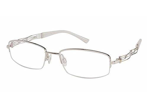 Charmant Line Art Eyeglasses XL2015 XL/2015 WG White Gold Optical Frame - Prescription Eyeglasses Xl