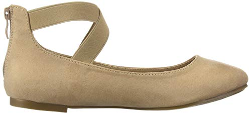 DREAM PAIRS Women's Sole_Stretchy Nude Fashion Elastic Ankle Straps Flats Shoes Size 6.5 M US