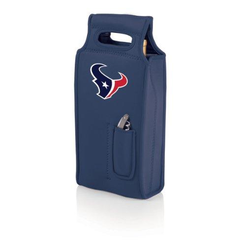 NFL Houston Texans Samba 2-Bottle Neoprene Wine Tote Bag, Navy