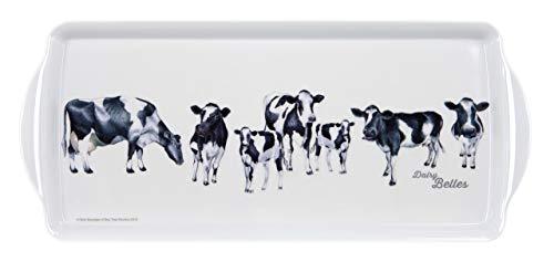 Ashdene Dairy Belles Cow Design Rectangular Sandwich Tray, 6.5 x 15 Inches