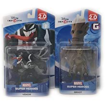 Disney Infinity Groot & Venom Figurines 2.0 Edition