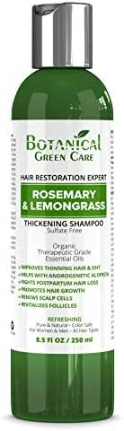 "Hair Growth/Anti-Hair Loss Sulfate-Free Shampoo ""Rosemary & Lemongrass"". Alopecia Prevention and DHT Blocker. Doctor Developed. NEW 2018 FORMULA!"