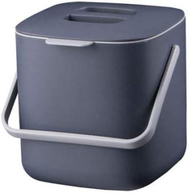 Litem Food Waste Basket Bin W/Handle 2.6L (Dark Gray)