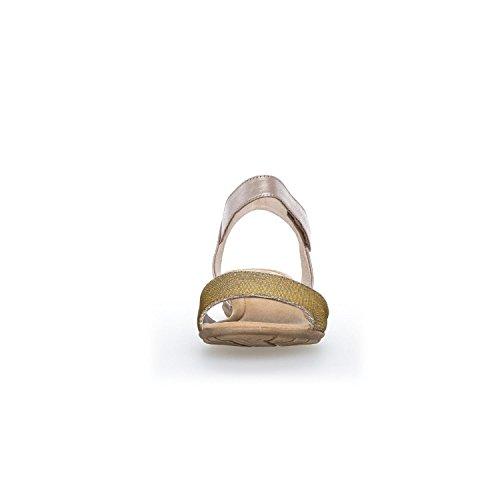 Gabor - Sandalias de vestir para mujer beige muschel/platino *