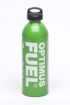 Optimus Botella de combustible con tapa segura para niños, 1 litro, capacidad para 890 ml