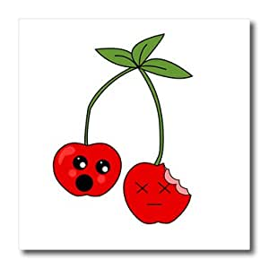 ht_165894_3 Janna Salak Designs Food and Drink - Funny Cherry Design - Iron on Heat Transfers - 10x10 Iron on Heat Transfer for White Material